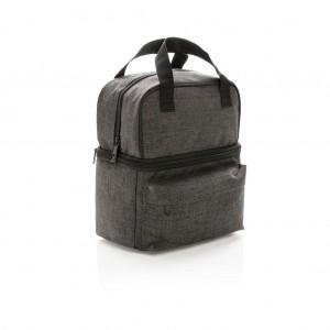 Šaldymo krepšys su 2 izoliuotais skyriais, antracito