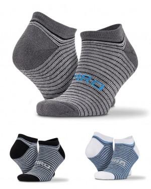 3 pakuotės dryžuotų sportinių kojinių