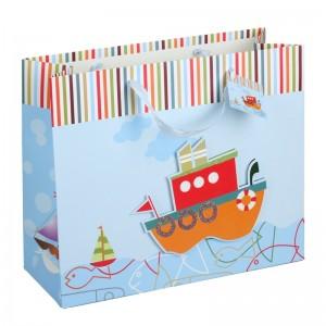 Laivų temos dovanų maišelis