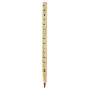 Medinis rašiklis su liniuote