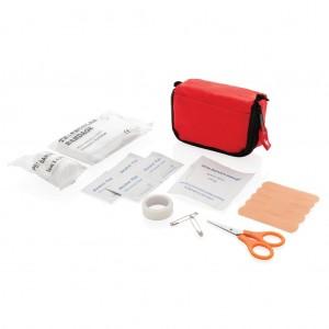 Pirmosios pagalbos rinkinys maišelyje, raudonas / baltas