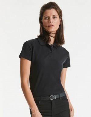 Moteriški klasikiniai polo marškinėliai iš medvilnės