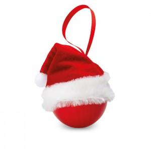 Kalėdinė puošmena su kalėdine kepurėle