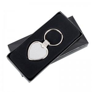 Širdies formos metalinis raktų pakabukas