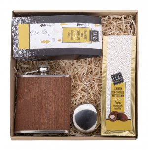Verslo dovanos Kilsbergen (chocolate and spirit gift set)