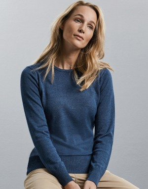Crew Neck Knitted Pullover. Moteriškas megztinis