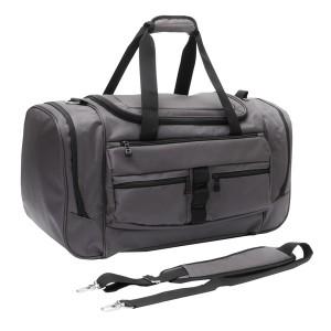 Pilkas kelioninis krepšys