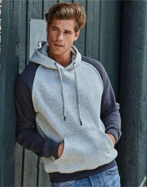 Dviejų atspalvių vyriškas džemperis su gobtuvu