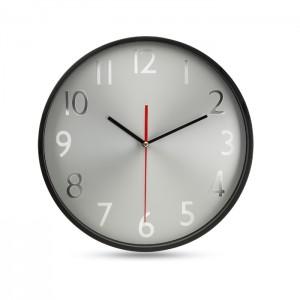 Sieninis laikrodis su sidabro spalvos fonu