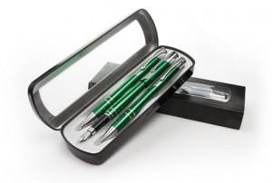 Prabangus dovanų rinkinys: parkeris, tušinukas, mechaninis pieštukas dėžutėje Platon