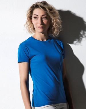 Viskoziniai, medvilniniai moteriški marškinėliai