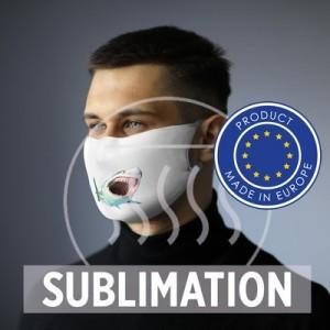 Pakartotinai naudojama veido kaukė su filtro erdvėmis ir sidabro jonais