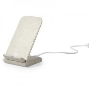 Kviečių šiaudų belaidis įkroviklis 10W, telefono stovas