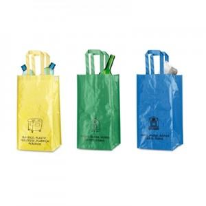 3 vienetai maišų atliekoms perdirbimui