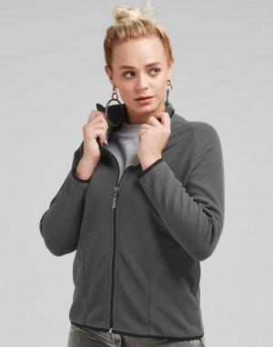 Moteriškas mikroflisinis džemperis su viso ilgio užtrauktuku