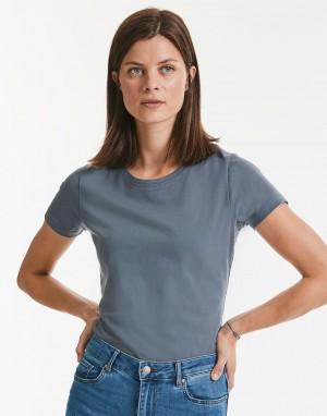 Moteriški ekologiški marškinėliai iš sunkaus audinio