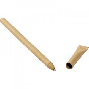Perdirbto kartono rutulinis rašiklis