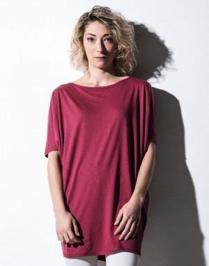 Moteriški marškinėliai iš ekologiškos medvilnės/liocelio