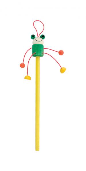 Medinis pieštukas, su varlės figūra Farm