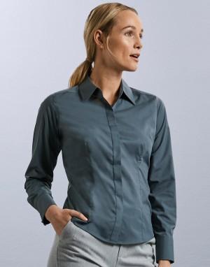 Ladies LS Fitted Poplin Shirt. Moteriški marškiniai
