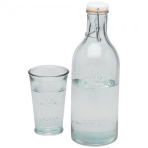 Vandens grafinas ir stiklinės: 100% perdirbto stiklo