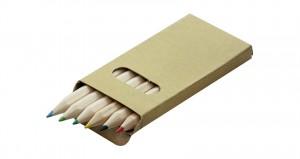 6 vnt spalvoti pieštukai Barva
