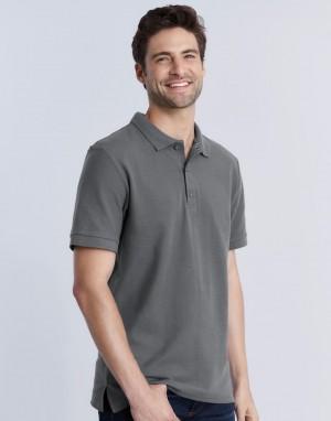 Vyriški aukščiausios kokybės medvilniniai, pikė verpimo polo marškinėliai