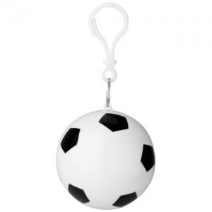 Zina sulankstomas apsiaustas nuo lietaus futbolo kamuolio formos raktų pakabuke