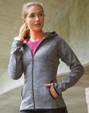 Moteriškas mikroflisinis džemperis su gobtuvu