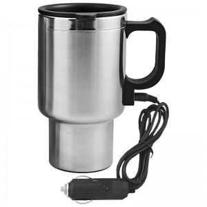400 ml automobilinis plieno puodelis su šildymo funkcija