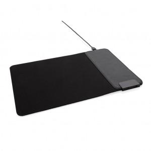 Pelės kilimėlis su 15 W belaidžiu įkrovikliu  ir USB jungtimis