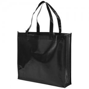Blizgi, laminuotos, neaustinės medžiagos pirkinių krepšys