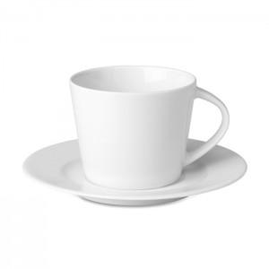 Kapučino puodelis ir lėkštutė