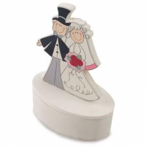 Dėžutė su dangteliu su vestuvių forma