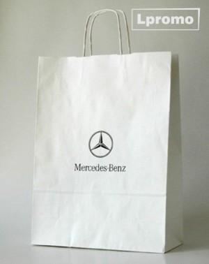 Individuali spauda ant popierinių Kraft baltų maišelių, 300x340 mm