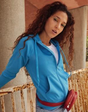 Moteriškas lengvas džemperis (švarkas) su gobtuvu
