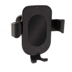 5W belaidžio įkrovimo gravitacinio telefono laikiklis, juodos spalvos