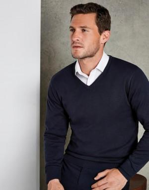 Classic Fit Arundel V Neck Sweater. Vyriškas megztinis