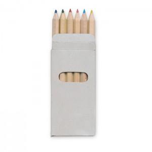 6 spalvoti pieštukai dėžutėje