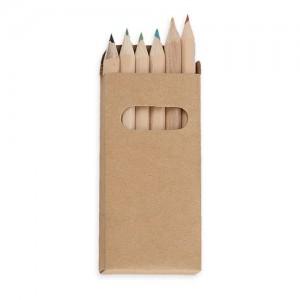 6 spalvotų pieštukų rinkinys