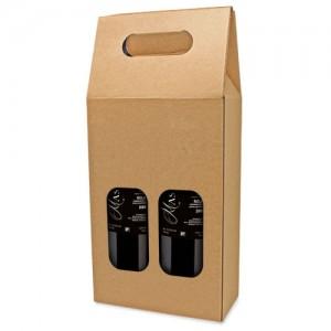 Dovanų dėžutė dviems buteliams