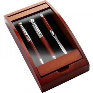 Rašymo priemonių rinkinys- plunksnakotis, tušinukas ir peiliukas laiškams
