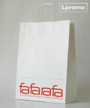 Kraft balti popieriniai maišeliai su spauda, 360x320 mm