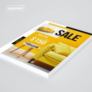 Reklaminės skrajutės spauda, A7 plius, 50x148mm, 250 gsm