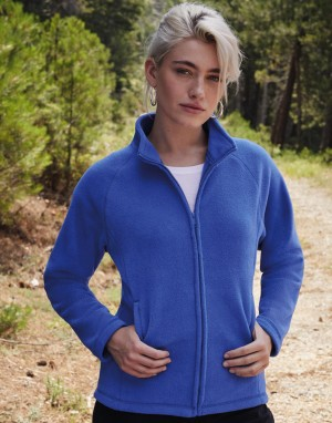 Moteriškas flisinis džemperis (striukė) su viso ilgio užtrauktuku