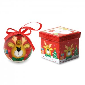 Kalėdinė dekoracija - žaisliukas dovanų dėžutėje
