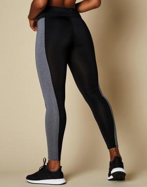 Moteriški madingo kirpimo viso ilgio, kontrastingų spalvų  sportiniai antblauzdžiai