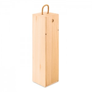 Medinė vyno dėžutė