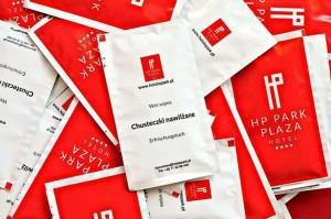 Drėgnos servetėlės su reklamine spauda, 60x120