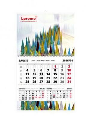 Sieninis kalendorius trys viename